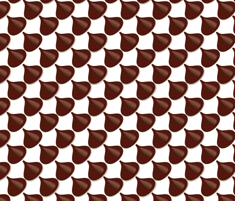 Chocolate Chips  fabric by mag-o on Spoonflower - custom fabric
