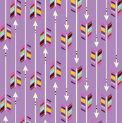 A Rainbow of Arrows: radiant orchid