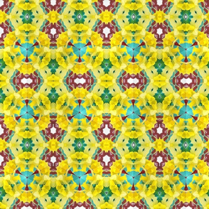 yellow daffodil pattern