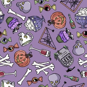 Halloween Jumble -faded purple