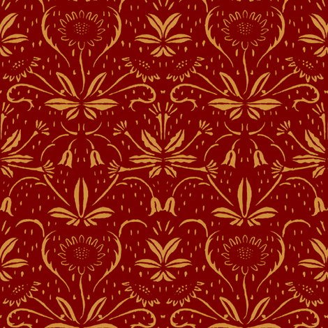 Rsunflowers___rococo_gold_on_claret_shop_preview
