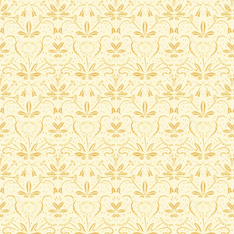 Sunflowers ~ Rococo Gold on Hameau fabric by peacoquettedesigns on Spoonflower - custom fabric