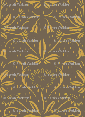 Sunflowers ~ Rococo Gold on Rocaille