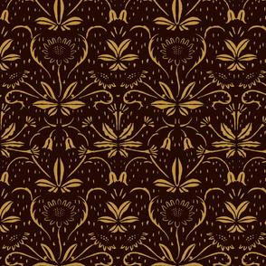 Sunflowers ~ Rococo Gold on Senart