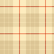 Colorado Plaid ~ Marsha ~ Trianon Cream, Coquille, Cedar and Rust