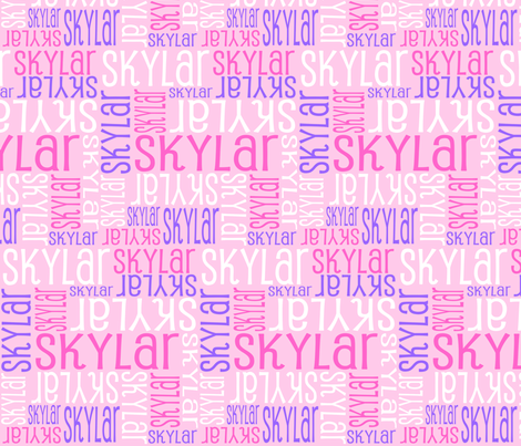 Personalised Name Design - Purple and Pink