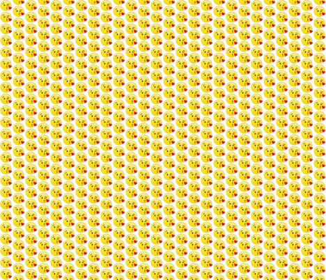 Kissy face emoji wallpaper biancaparis spoonflower for Emoji fabric