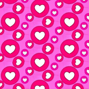 valentine's day hearts and circles
