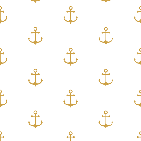 Anchor - Gold fabric by kimsa on Spoonflower - custom fabric