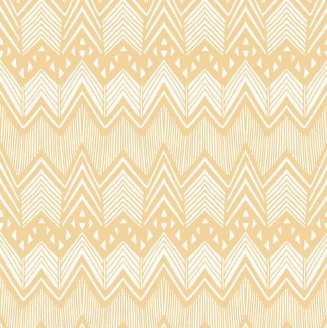 Light Tangerine - Hand drawn Chevron fabric by kimsa on Spoonflower - custom fabric