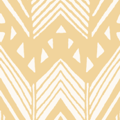 Light Tangerine - Hand drawn Chevron