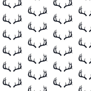 Deer Antlers in Navy (Half Scale)