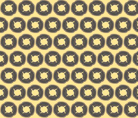 circle cut creams fabric by ccogburn on Spoonflower - custom fabric