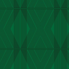 Art Deco Chevron - Emerald