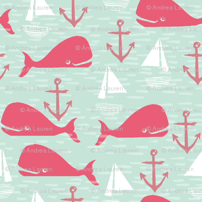 Anchors Away!  Whales Limited Palette Contest Entry by Andrea Lauren