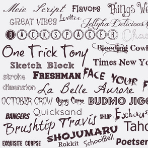 Fonts and more fonts.....-ch