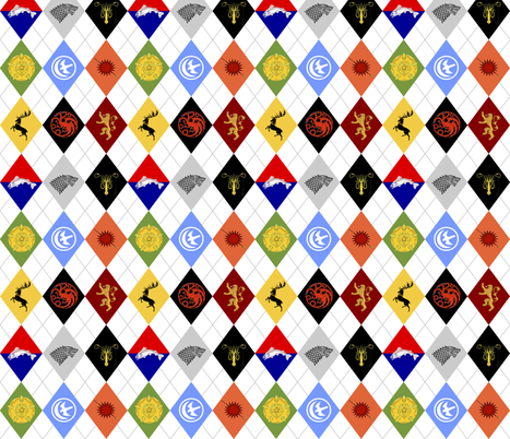 Game of Thrones Argyle fabric by courtneyb2482 on Spoonflower - custom fabric