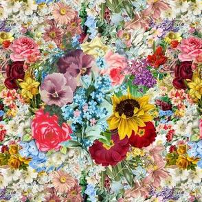 Vintage Floral pattern - flowers of spring and summer