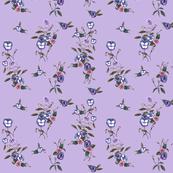 Pansies and Peonies Purple