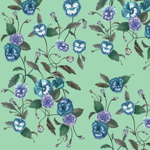 Pansy Blue on Peppermint