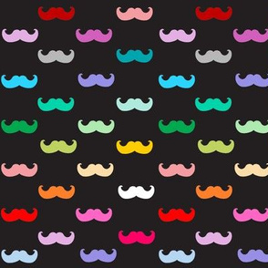 Black Rainbow mustache pattern