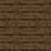 Minecraft - Spruce Planks - Large