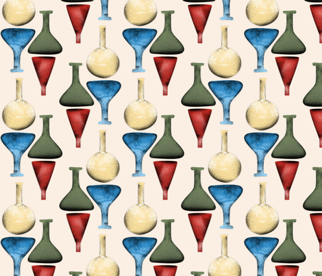 Vintage Science fair fabric by josephinegraucob on Spoonflower - custom fabric