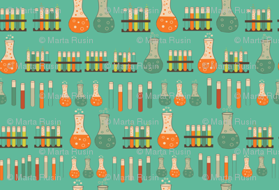 chemistry lab on teal