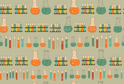 chemistry lab on faded green