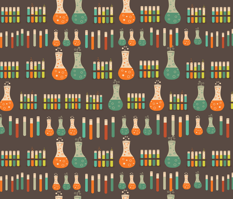 chemistry lab vials fabric by kociara on Spoonflower - custom fabric
