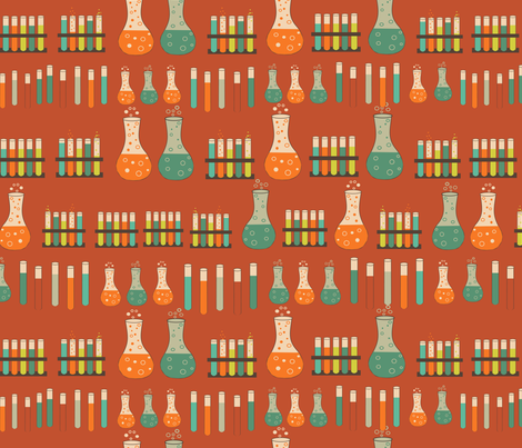 chemistry lab orange fabric by kociara on Spoonflower - custom fabric