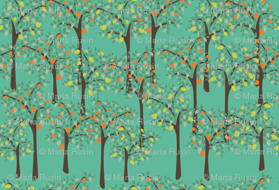 lemon and orange trees
