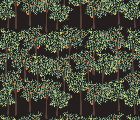 orangery fabric by kociara on Spoonflower - custom fabric