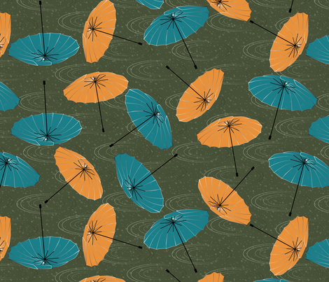 umbrellas fabric by kociara on Spoonflower - custom fabric