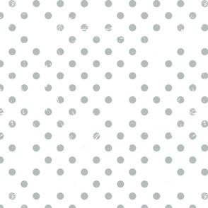 Distressed Dots in Custom Slate Gray