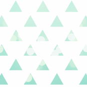 Raindrop Mint Triangles