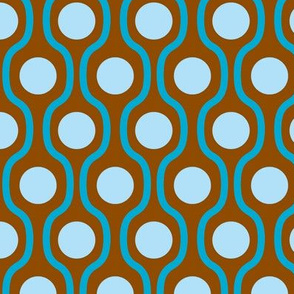 waves and dots brown-blue