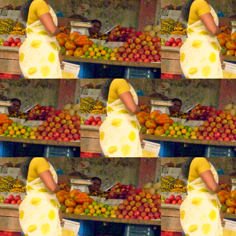 Torso at Fruit Stand, Chennai fabric by susaninparis on Spoonflower - custom fabric