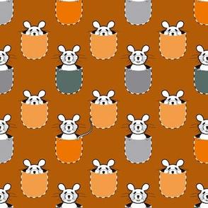 White mouse in pocket (Orange)