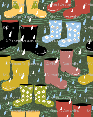 Wellies and Galoshes in the Rain