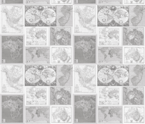 Soft Pastel Gray Instant Quilt fabric by aftermyart on Spoonflower - custom fabric