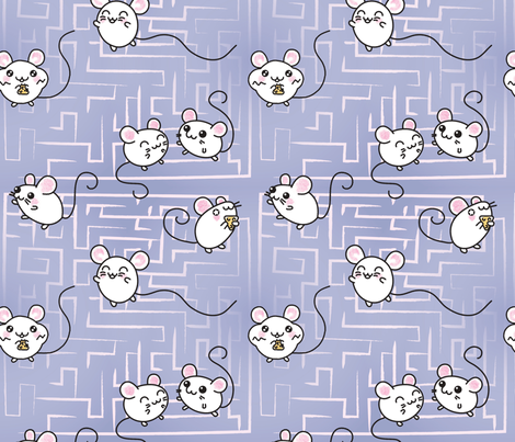 Mousey Labyrinth fabric by positivecynic on Spoonflower - custom fabric