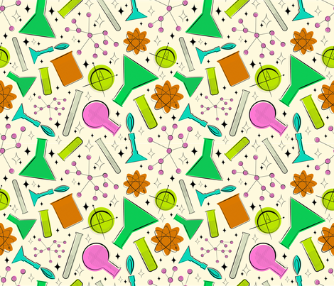 mid century science fabric by ccapone on Spoonflower - custom fabric