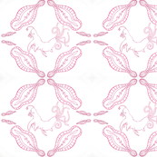 Star Whales Damask