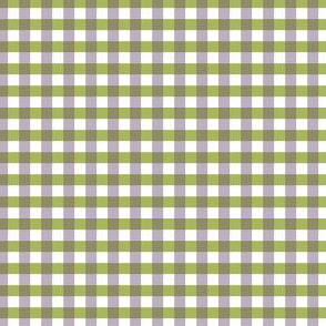 Green and Pale Blue-purple Gingham.