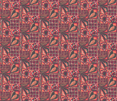 Flora Pacifica  pink hibiscus fabric by sophista-tiki_by_dawn_frasier on Spoonflower - custom fabric