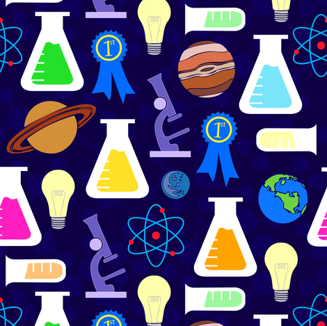 Explore the Science Fair fabric by illustrative_images on Spoonflower - custom fabric