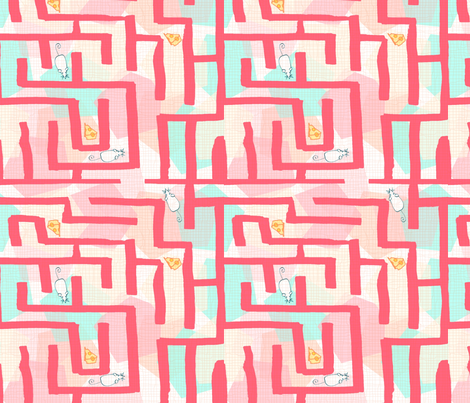 Science Fair Mouse Maze fabric by lucky_lucille on Spoonflower - custom fabric
