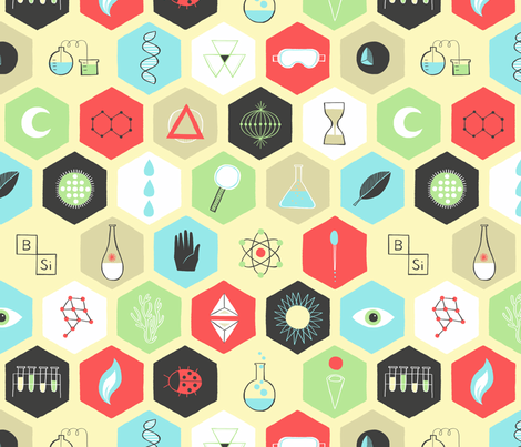 Mad Science fabric by emilybluestar on Spoonflower - custom fabric