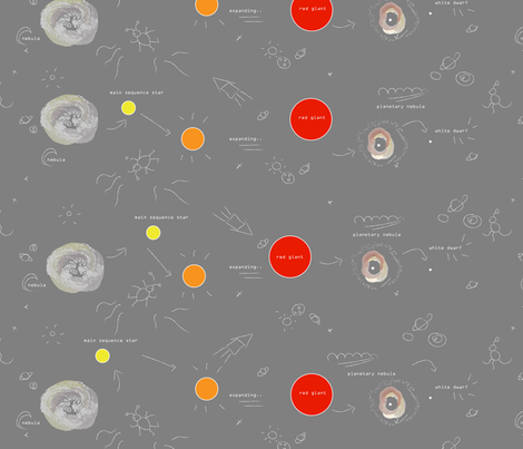 Stellar Evolution fabric by janetdrummond on Spoonflower - custom fabric